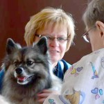 Deb and therapy dog Gracie