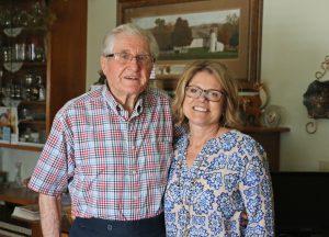 Warren Wiltse and Volunteer Coordinator Tracy Roche