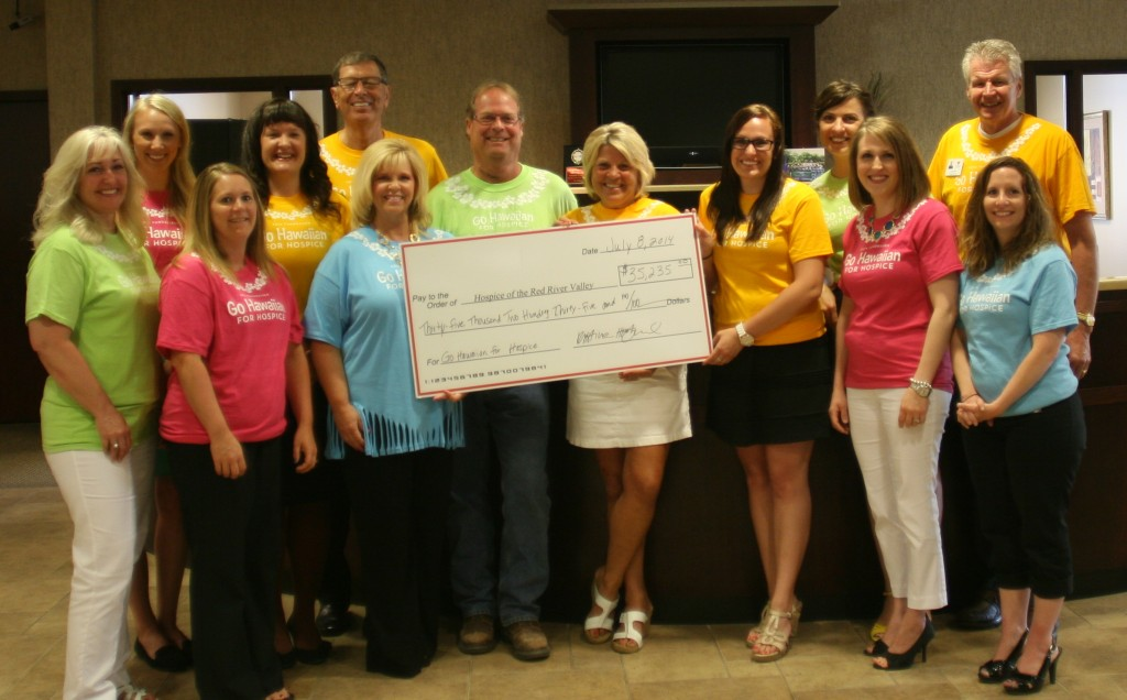 2014 Go Hawaiian check presentation