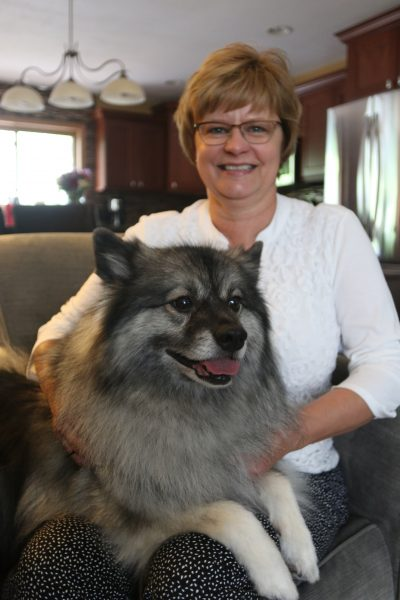 Deb Tucker and therapy dog Gracie