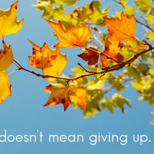 Hospice doesn't mean giving up.