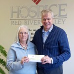 Barb Ziegler and Curt Seter, development officer for Hospice of the Red River Valley