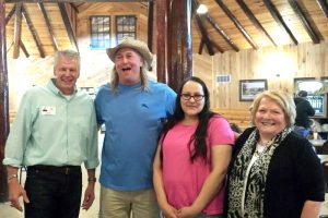From left to right: Curt Seter from Hospice of the Red River Valley, Tim Nelson, Ellie Accobee and Rib Best organizer Becky Rantanen