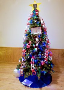 The Bjerken tree was decorated by the Thief River Falls Challenger Preschool class.