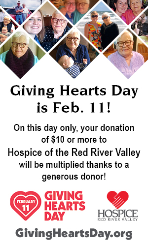 images of grandma Gladys and Erin Giving Hearts Day is Feb. 11, 2021! On this day only, your donation of $10 or more to Hospice of the Red River Valley will be multiplied thanks to a generous donor!
