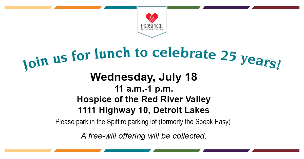 25th Anniversary Lunch (Detroit Lakes, Minn ) - Hospice of the