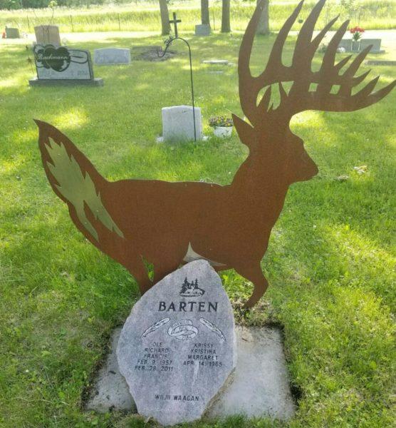 Ole Barten's headstone