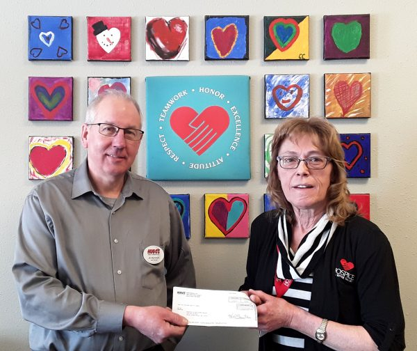 Hugo's Donation to Hospice of the Red River Valley