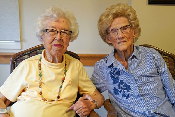 Charlotte & Lois_two elderly women sitting together
