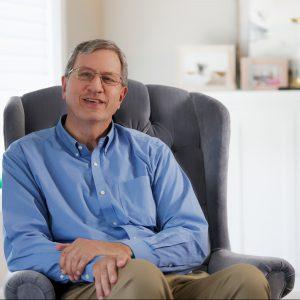 Roger Greenley, man sitting in chair
