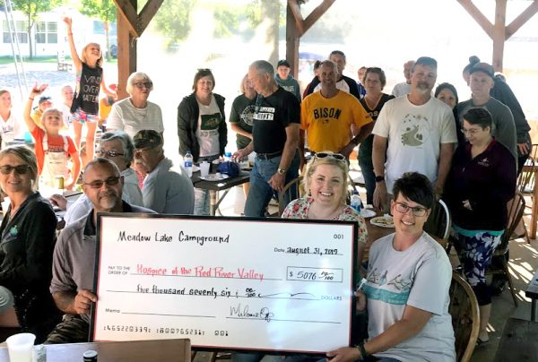 Residents of Meadow Lake Campground support Hospice of the Red River Valley