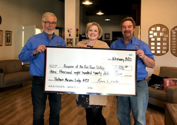 Perham Masonic Lodge check presentation