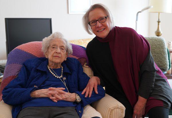 Hospice patient Terry Nelson with her daughter, Pat.