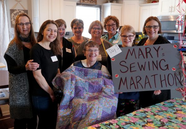 Mary's Sewing Marathon participants