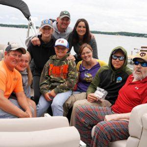 Donovan Johnson_family on a pontoon