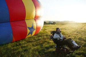 Uplifting Experience: Hospice Patient Enjoys Hot Air Balloon Ride