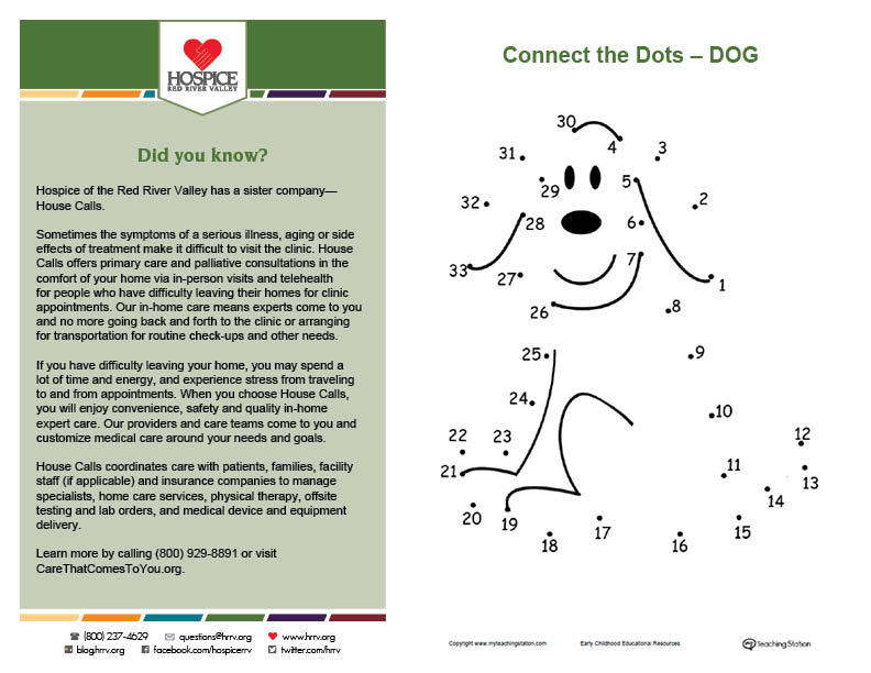 connect the dots activity page