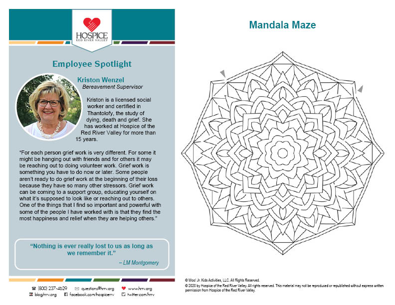 mandala maze printable worksheet