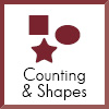 counting and shapes icon
