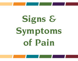 Signs & Symptoms of Pain