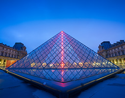 Louvre Museum glass pyramid entrance
