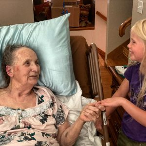 grandma with great grandchild Aryn